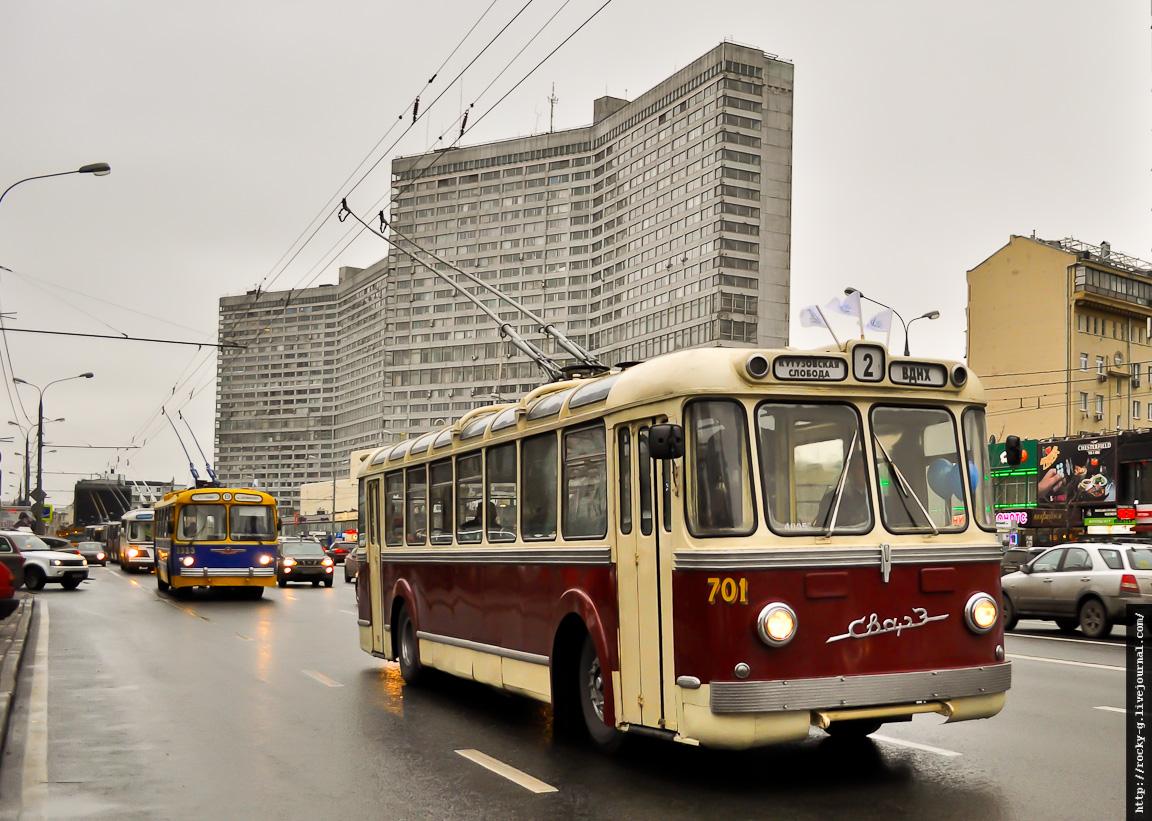 Парад к 80-летию московского троллейбуса 16.11.2013 СВАРЗ-МТБЭС