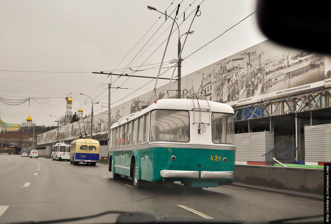Парад к 80-летию московского троллейбуса 16.11.2013