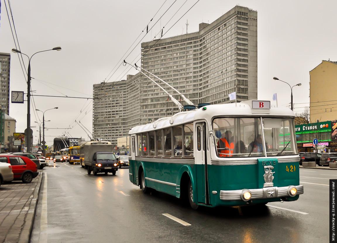 Парад к 80-летию московского троллейбуса 16.11.2013 СВАРЗ-ТБЭС (ВСХВ)