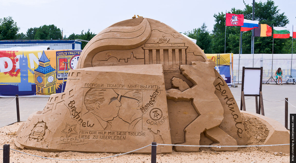 Песчаные скульптуры в Коломенском. «Города мира»