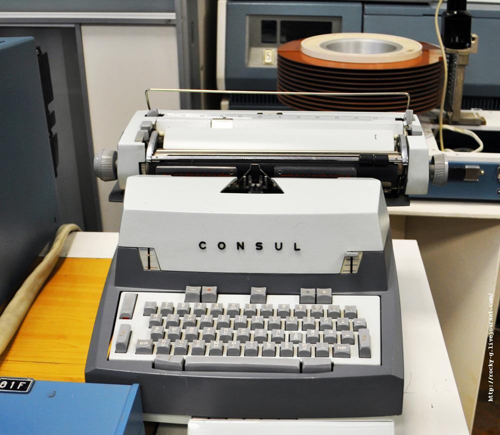 Пишущая машинка типа ec 7077 с блоком