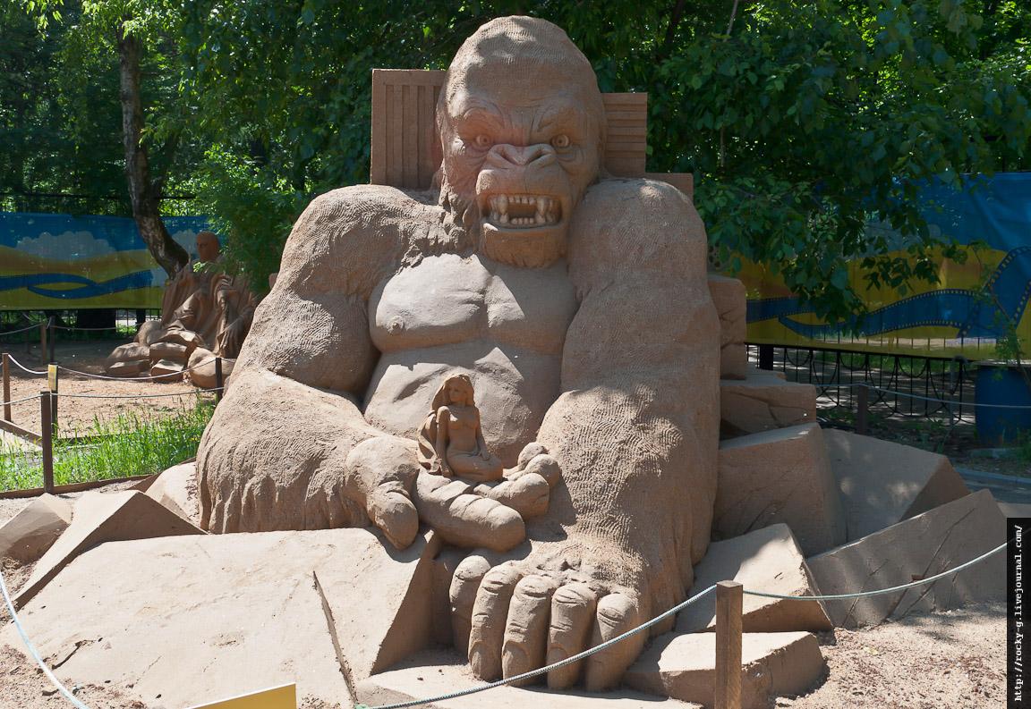 Песчаные скульптуры в Сокольниках. «Мир кино и мультфильмов»
