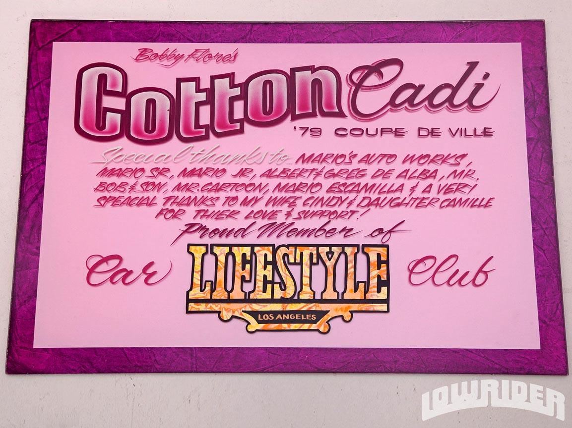 1979 Cadillac Coupe De Ville Cotton Cadi Plaque