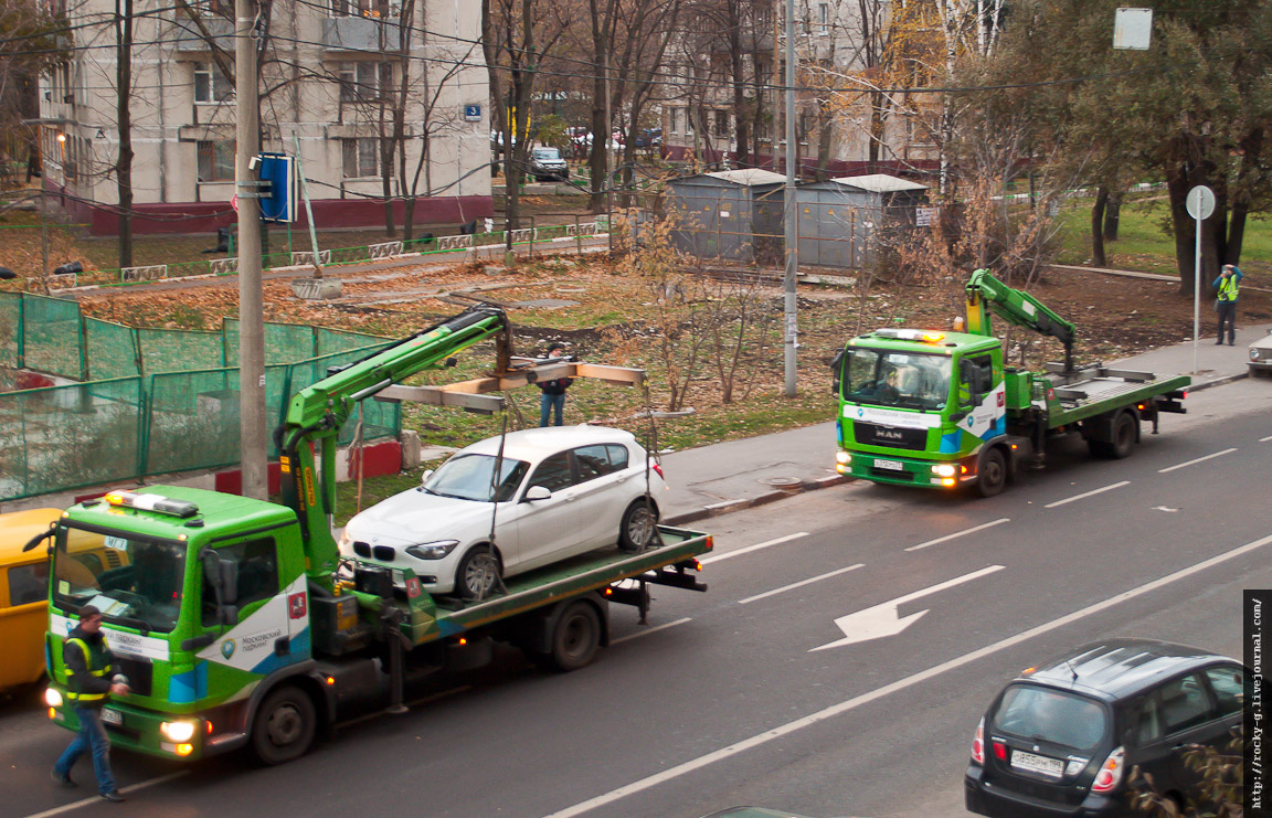 Москвоские эвакуатры - зелёные пидарасы